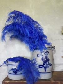 Struisvogelveer Royal Blue - Konings Blauw 60 cm