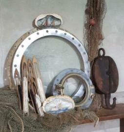 Inspiratie Oude Antieke Visserij Katrol Patrijspoort