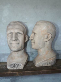 Oude Vintage Buste  Hoofd Barts Outdoor Winkeldisplay Man