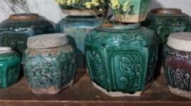 Oude Antiek Vintage Gemberpotten
