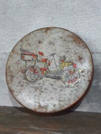 Oud Brocante Frans Blik Antique Tin Au Pierrot Gourmand Paris