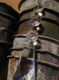 Oude Brocante Kristallen van Kroonluchter Glas