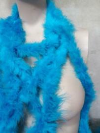 Brocante Marabou Boa Blauw