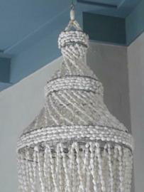 Vintage Bohemian Schelpen Kroonluchter - Schelpenhanger Schelpenlamp L