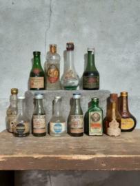 Oude Set Miniatuur Flesjes Drank Drankflesjes