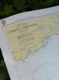 Oude Nautische Zeekaart Middellandse Zee - Malta en Gozo