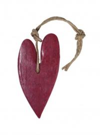 Puur Zeep Stoer Hart XL aan Touw Kersen Rood met Cranberry - Vijg
