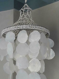 Unieke Kroonluchter - Schelpenhanger Schelpenlamp Capiz Schelpen XL