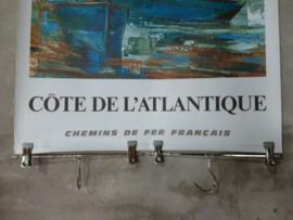 Oude Vintage Poster Affiche Touristme Cote l' Atlantique La Rochelle 1971