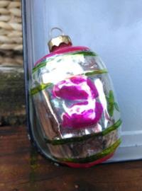 Oude Antiek Vintage Kerstbal  1593 Lampion Groot