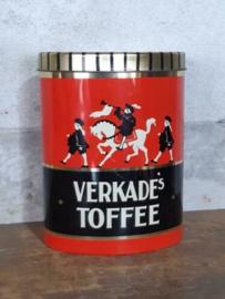 Oud Vintage Verkade Blik Toffee