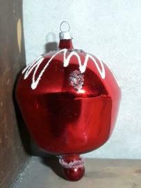 Oude Antieke Kerstbal  2313 Tol Rood
