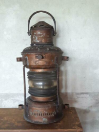 Oude Antieke Scheepslamp Scheepsantiek Mastlamp