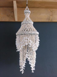 Vintage Bohemian Schelpen Kroonluchter - Schelpenhanger Schelpenlamp