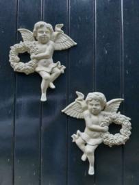 Gietijzeren Engel Beeld Engelenbeeld Putti Muurdecoratie