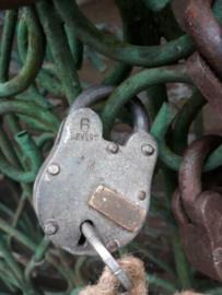 Oud Vintage Metalen Hangslot Slot L