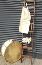 Oude Vintage Basdrum Trommel Muziekkorps Koninklijke Luchtmacht Nederland