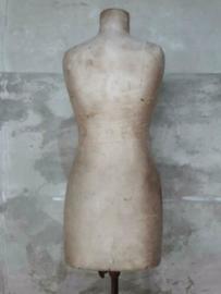 Oude Antieke Mannequin Buste Paspop op Voet Girard Paris Zijde