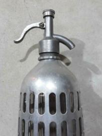 Oude Vintage Spuitfles Sodafles Aluminium Cover