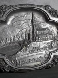 Oud Bordje Plaquette Zamac Basiliek Lourdes