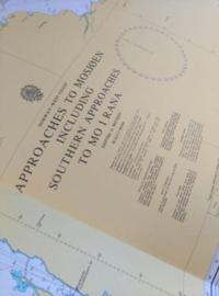 Oude Nautische Zeekaart Westkust Noorwegen