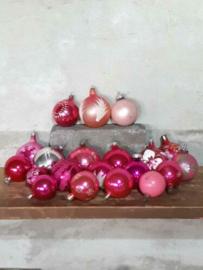 Oude Vintage Kerstballen 7388 Set Russisch Roze