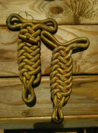Oude Antiek Set Epauletten Fourragere Korps Mariniers