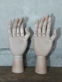 Oude Vintage Houten Hand Gelede Tekenhand Etalagepop