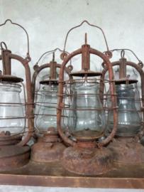 Oude Vintage Kerosine Stormlamp Olielamp USSR