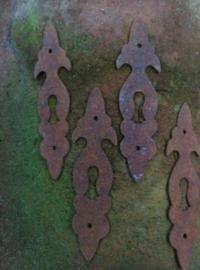 Antiek Sleutelplaatje Metaal 12.5 cm
