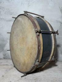 Oude Brocante Franse Blauwe Trommel