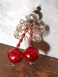 Oude Antieke Kerstbal  4636 Gablonzer Hanger