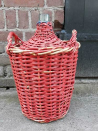 Oude Brocante Mandfles Gistfles Rood