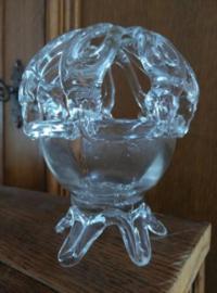 Oude Brocante Glazen Bloemensteker Handwerk