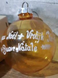 Oude Antiek Vintage Kerstbal  4144 Oranje