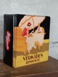 Oud Vintage Verkade Blik Koekblik Biskwie Art Deco