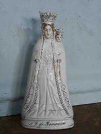 Oud Antieke Maria Beeld Bon Secour s OLV vd Bijstand Andenne of Brussels Porselein