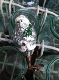 Oude Antieke Kerstbal  1020 Kerstman op Clip