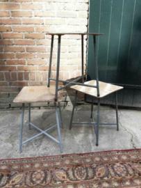 Oude Vintage Kruk Krukje Bijzettafel Plantentafel