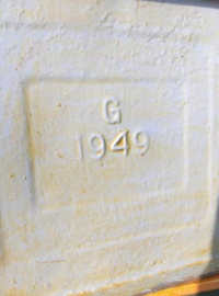 Oude Vintage Petroleumblik Blik Esso 1949