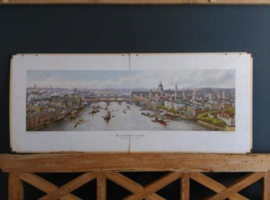 Oude Antieke Schoolplaat - De wereldstad Londen XL