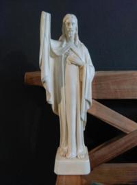 Oud Antiek Belgisch Jezus Beeld Gips Depose 811