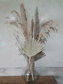 Gemengd Droogboeket Droogbloemen met Vaas Karaf Naturel