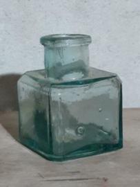 Oud Antiek Brocante Inktpotje Inktflesje