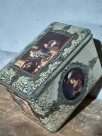 Oud Antiek Brocante Blik Smith's Goudboon Goudblad