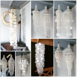 Inspiratie Schelpenhangers en Schelpenlampen