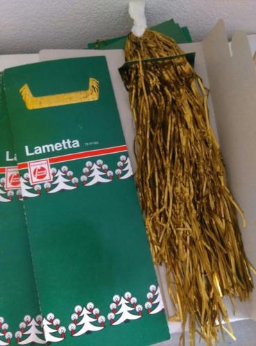 Oude Metaal Lametta  Stanniol Goud