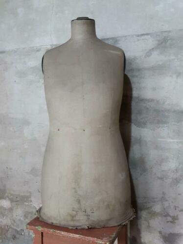 Oude Antieke Mannequin Buste Paspop Stockman Fors Model