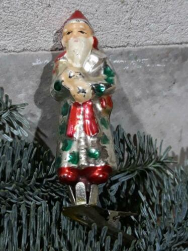Oude Antieke Russisch Kerstbal 3696 Kerstman