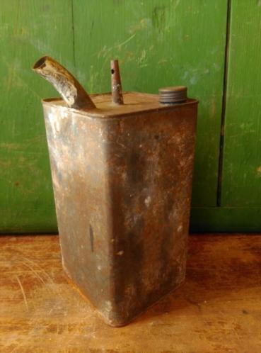 Oud Brocante Blik Petroleumblik
